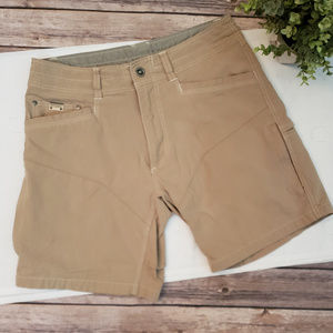 Kuhl Cargo Shorts Sz 31 Hiking Outdoor Tan Nylon